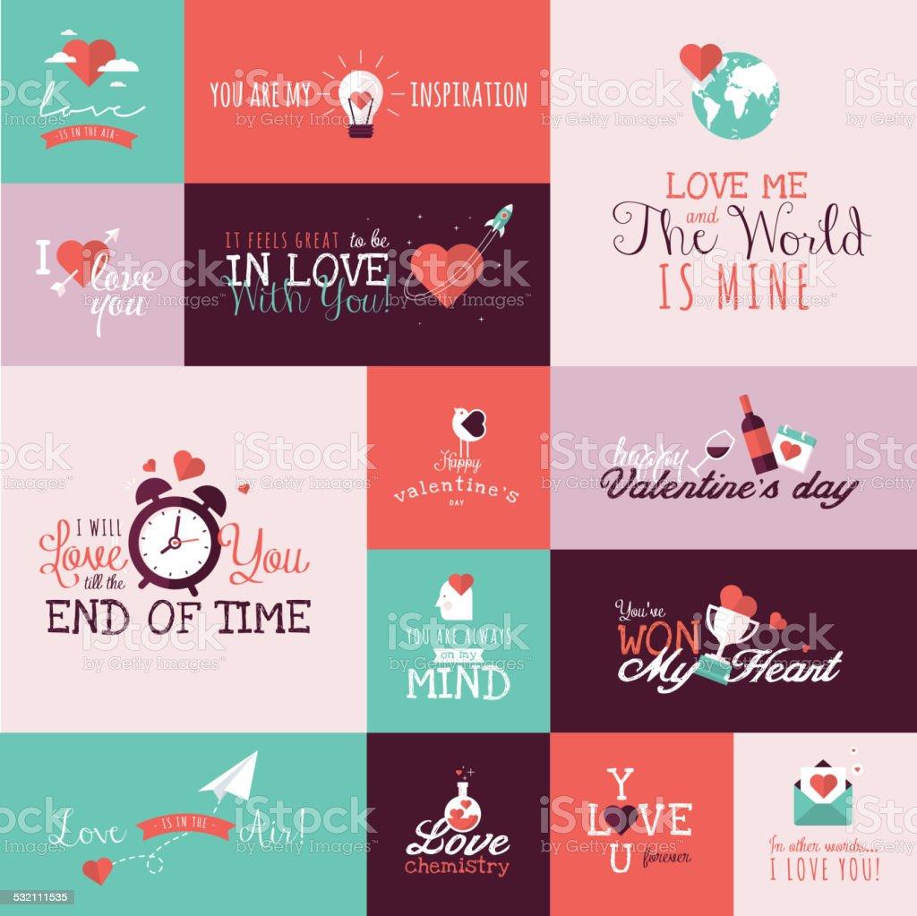 Conjunto de iconos de señales de San Valentín illustracion libre de derechos libre de derechos