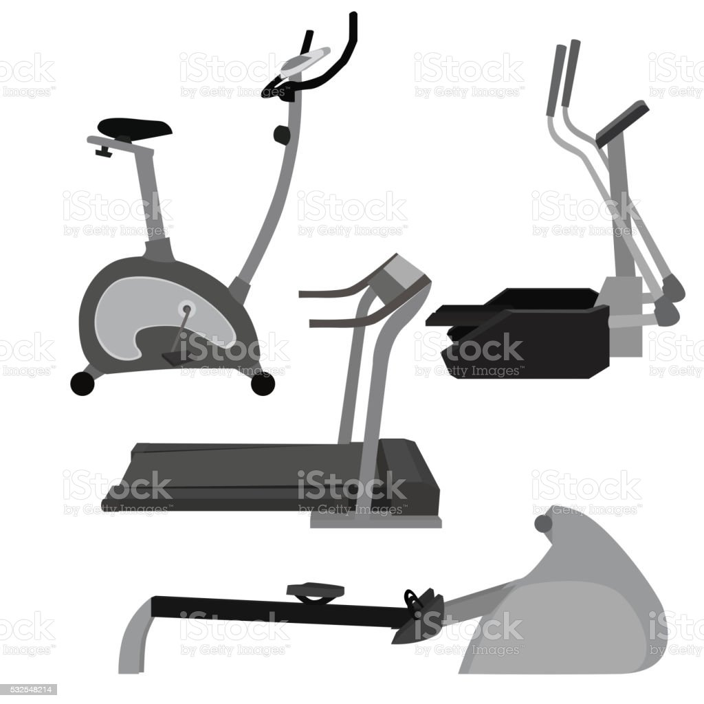 Set of flat illustration sports simulators. vector art illustration