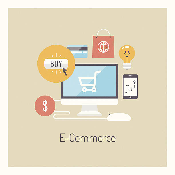 E Commerce Clip Art, Vector Images & Illustrations - iStock