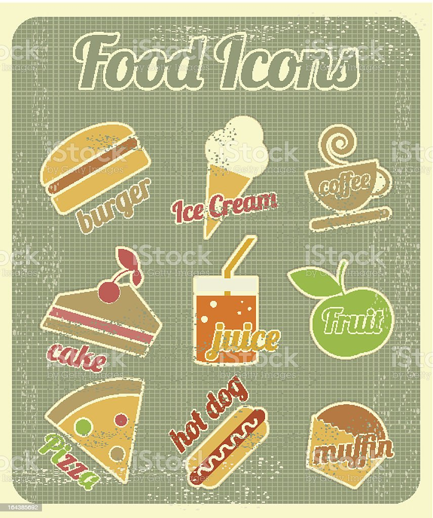 Set of Food Icons royalty-free stock vector art