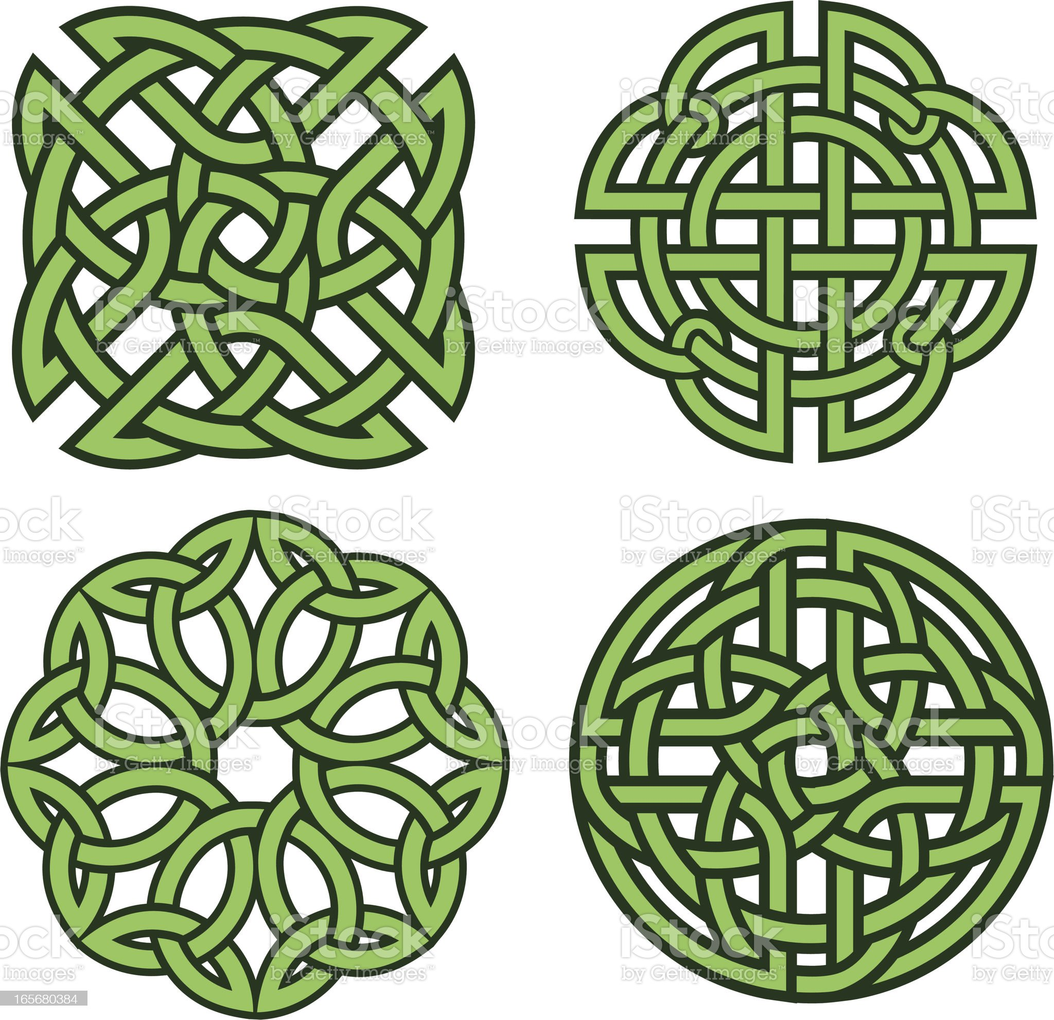 Set of four celtic knots royalty-free stock vector art