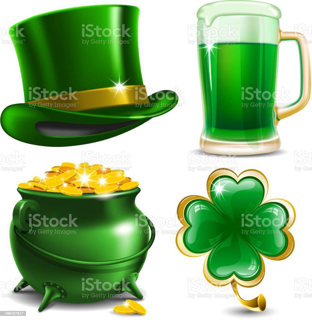 Set of four illustrations for St. Patrick's Day vector art illustration
