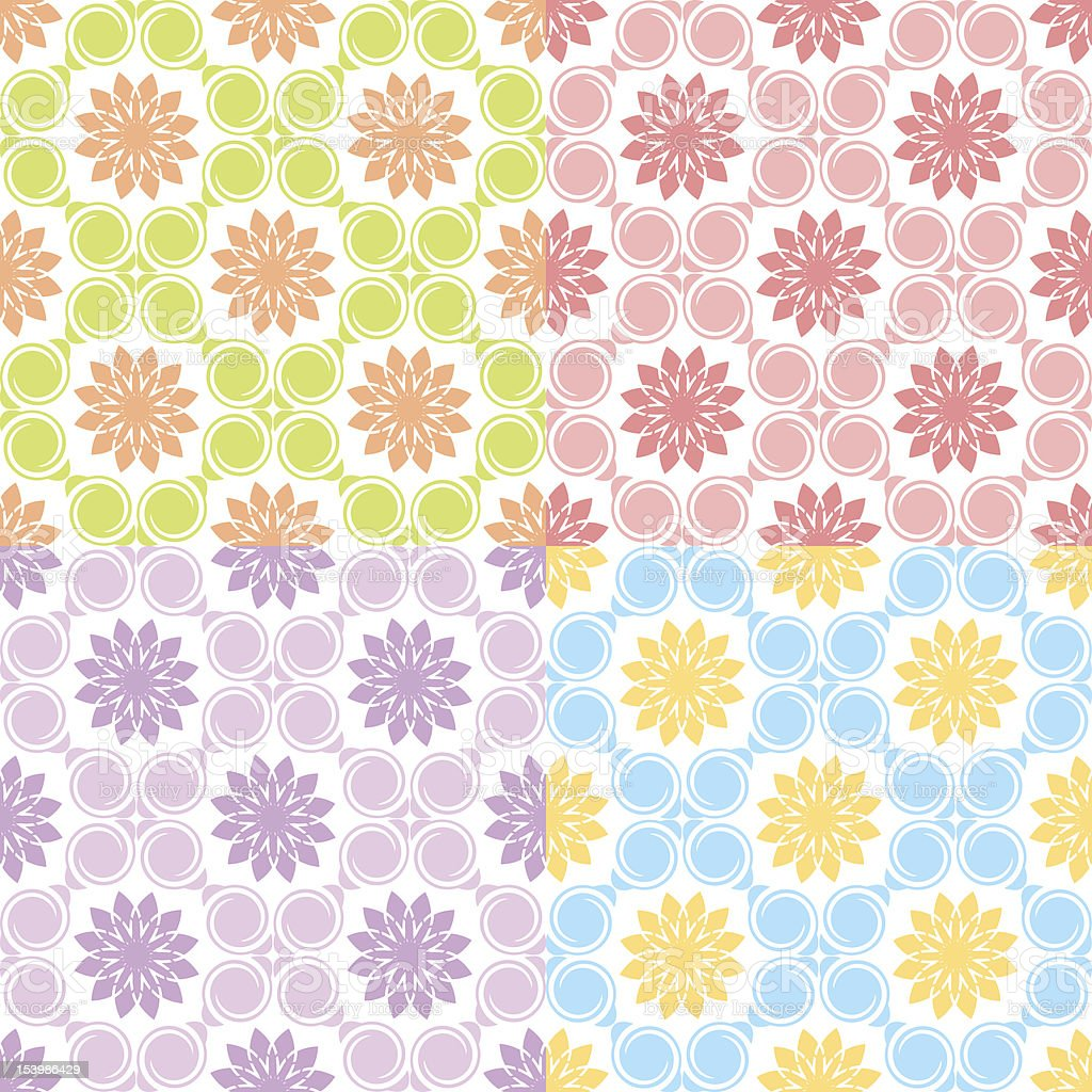 Set of Four Seamless Patterns. royalty-free stock vector art