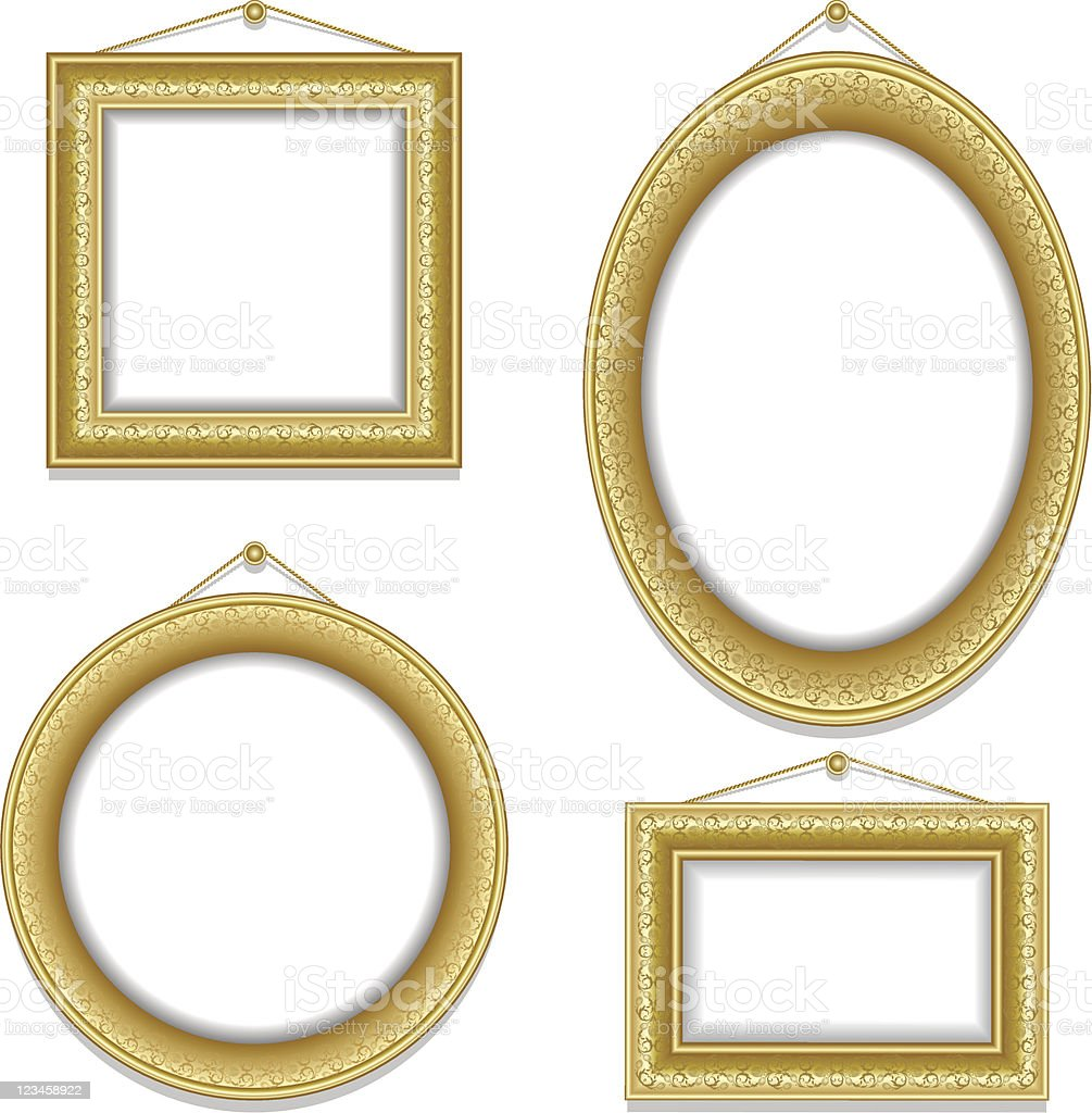 Set of frame royalty-free stock vector art