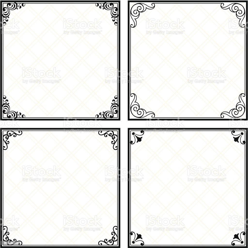 Set of frames royalty-free stock vector art