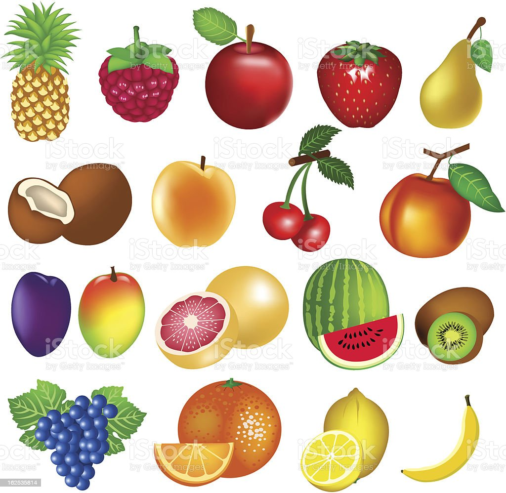 Set of Fruits royalty-free stock vector art