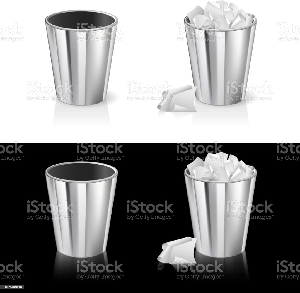 Set of garbage can royalty-free stock vector art