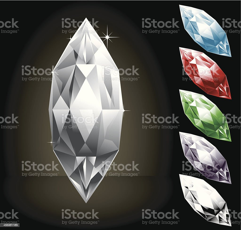 Set of Gems royalty-free stock vector art