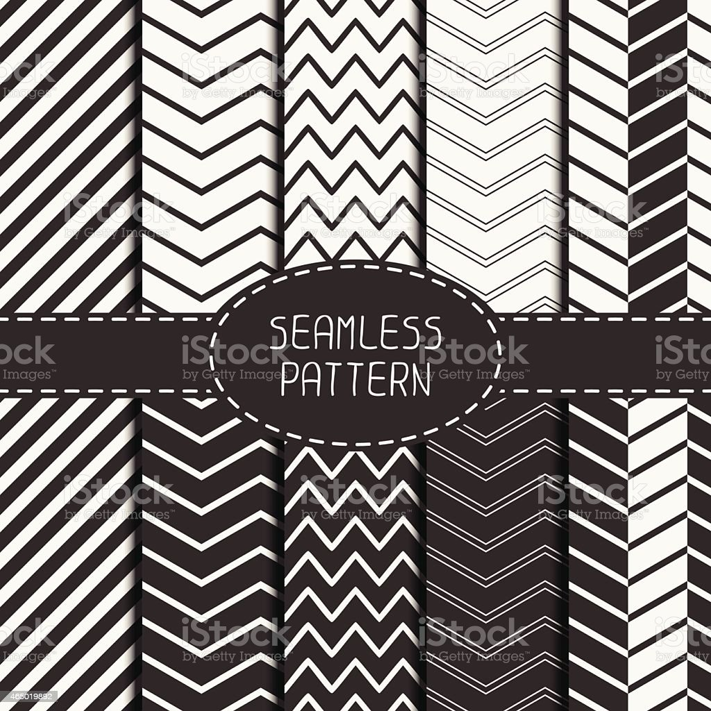 Set of geometri seamless pattern with chevron. Vector background. Tiling. vector art illustration