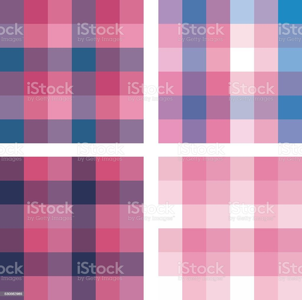Set of  geometric Seamless Patterns royalty-free stock vector art