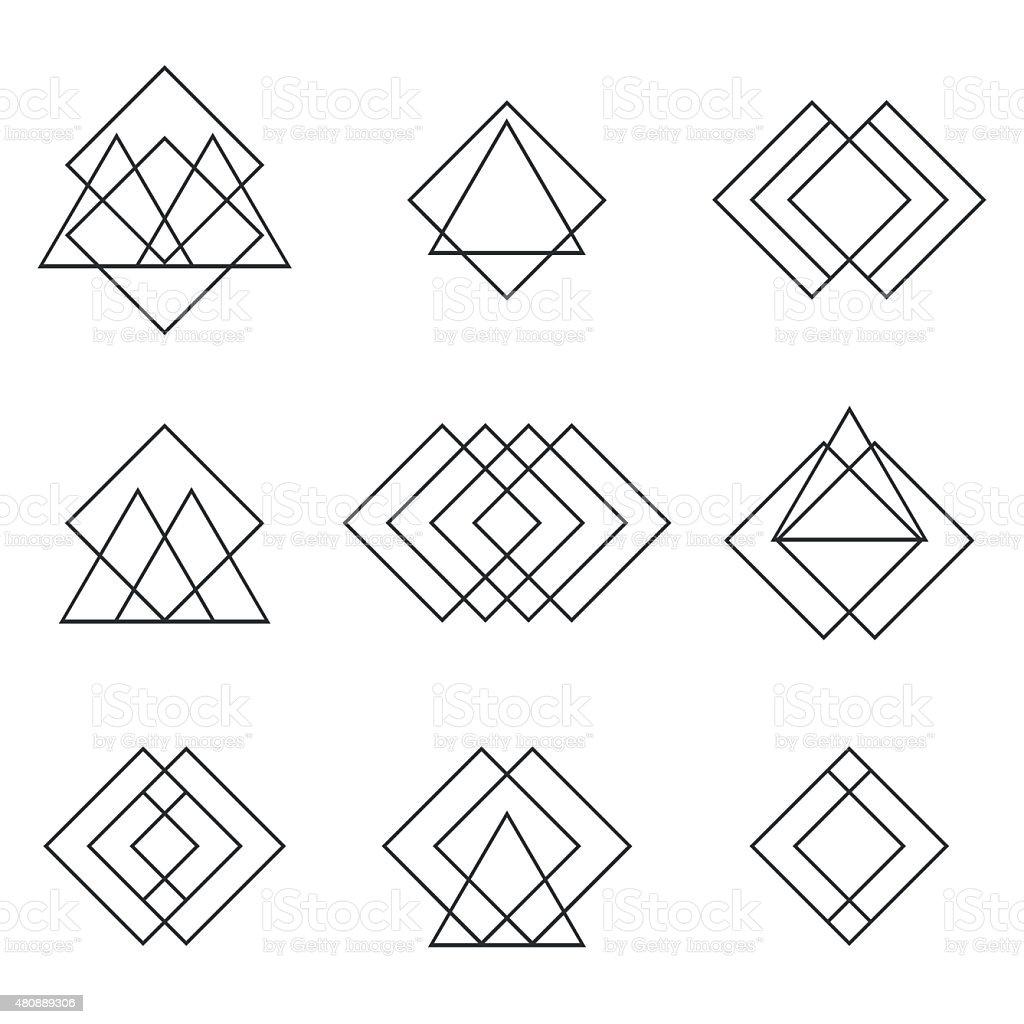juego de formas geomtricas tringulos lneas para tu diseo de moda libre de