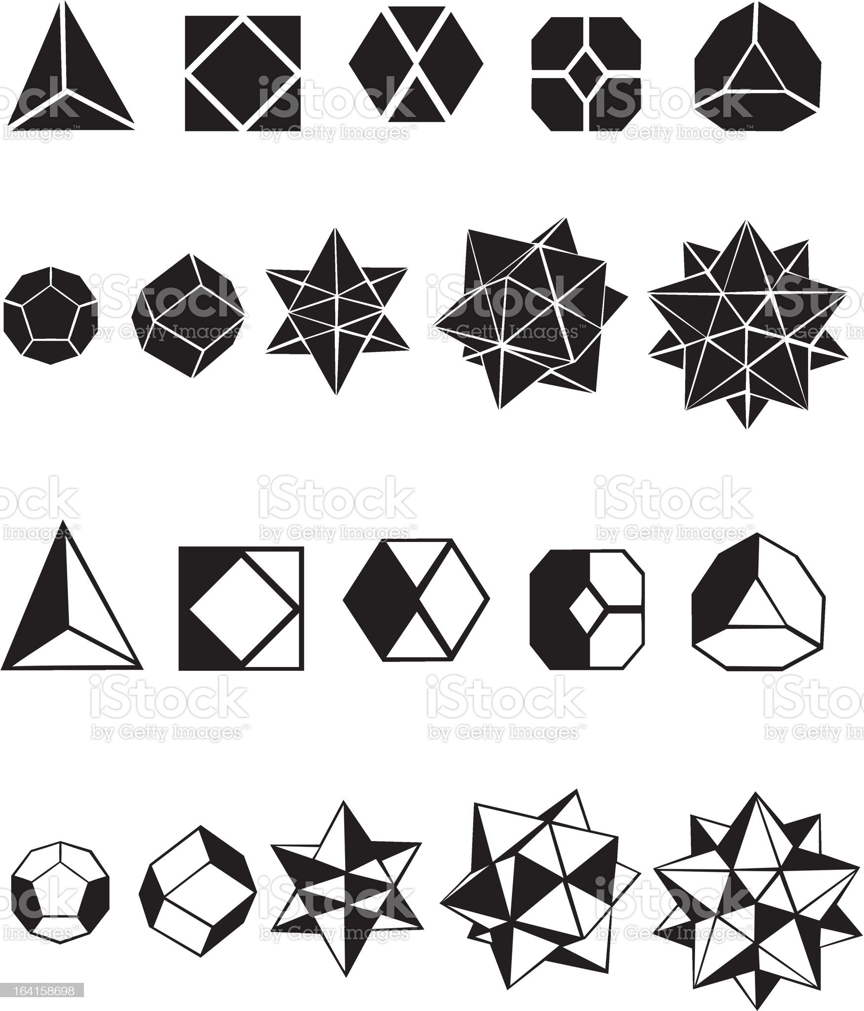 Set of geometric shapes royalty-free stock vector art