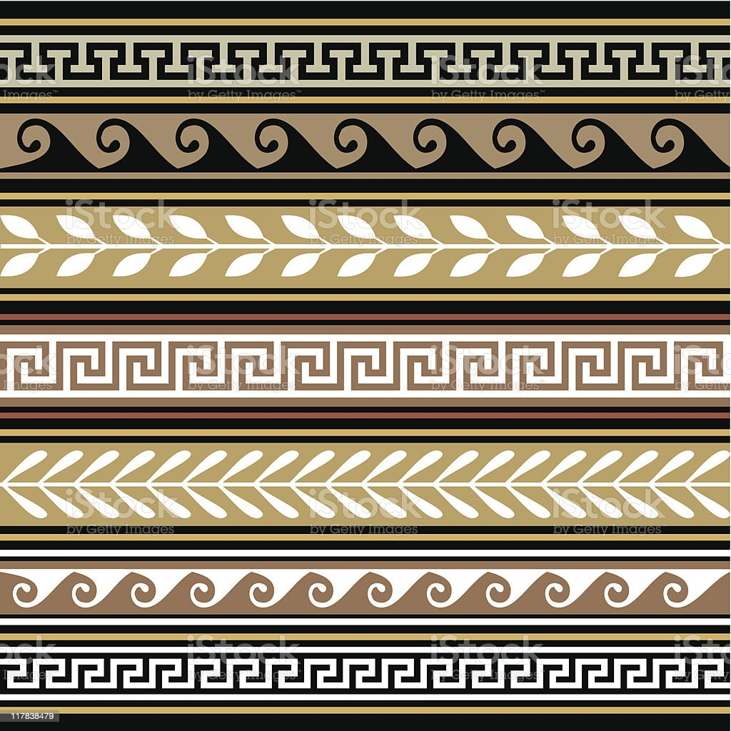Set of geometric vector borders royalty-free stock vector art