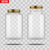 Set of Glass Jars for canning