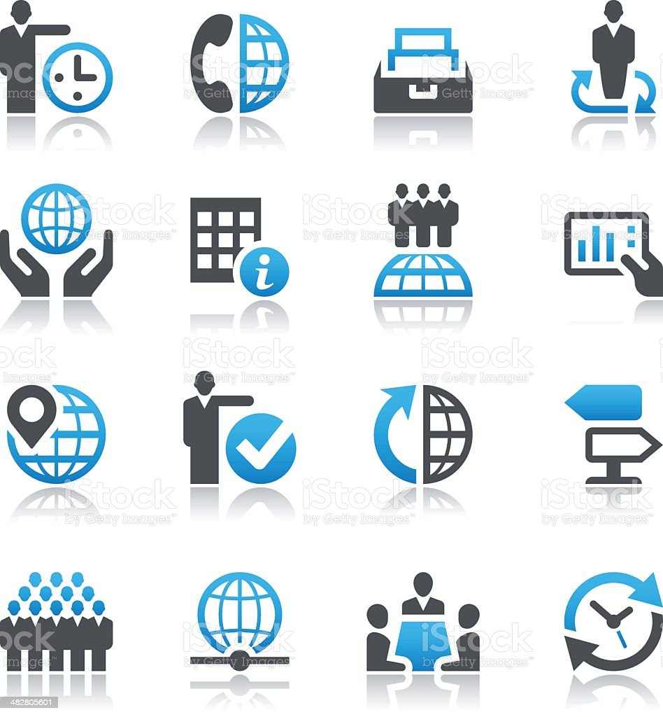 Set of global business icons royalty-free stock vector art