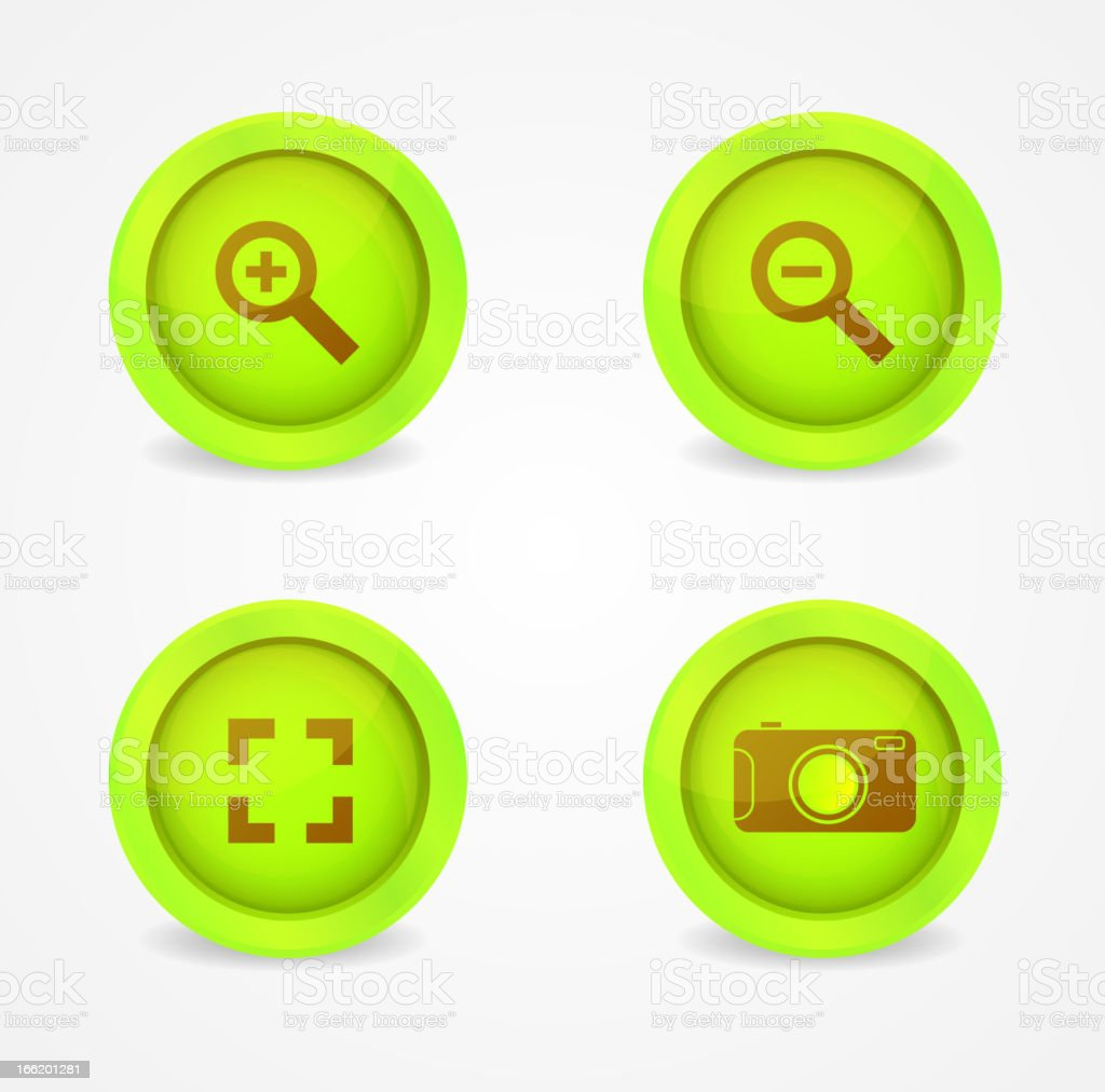 Set of glossy image browser icons royalty-free stock vector art