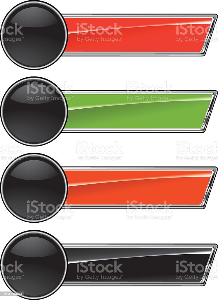 set of glossy racing banners vector art illustration