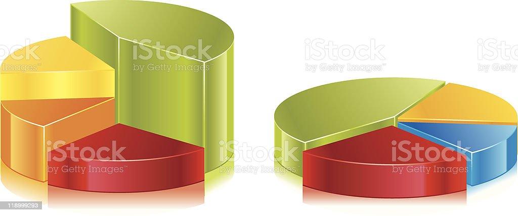 Set of glossy vector diagrams royalty-free stock vector art