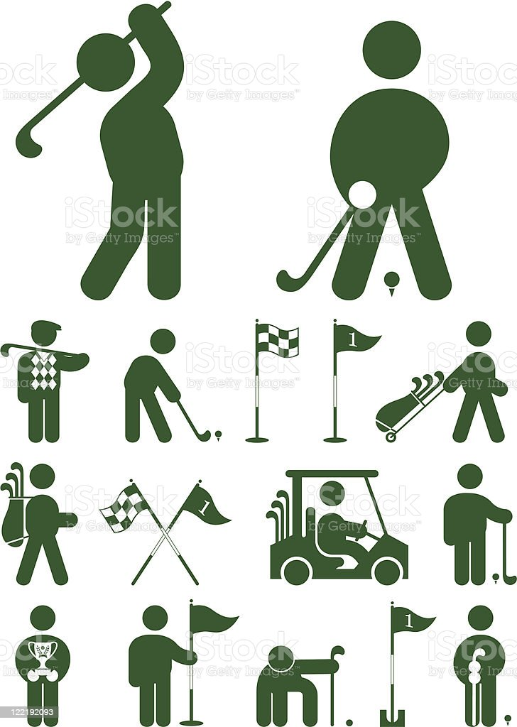 set of golf icon royalty-free stock vector art