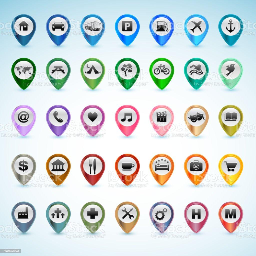 Conjunto de iconos de GPS illustracion libre de derechos libre de derechos