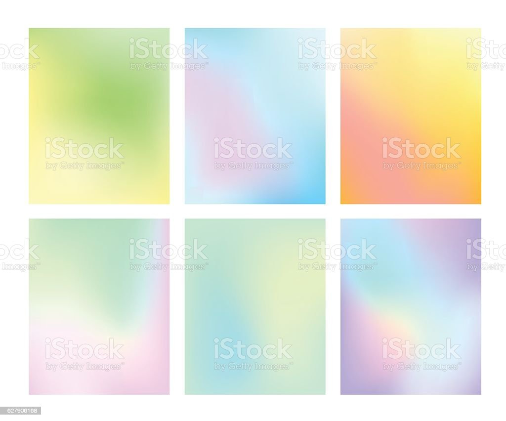 Set of gradient pastel vector background vector art illustration