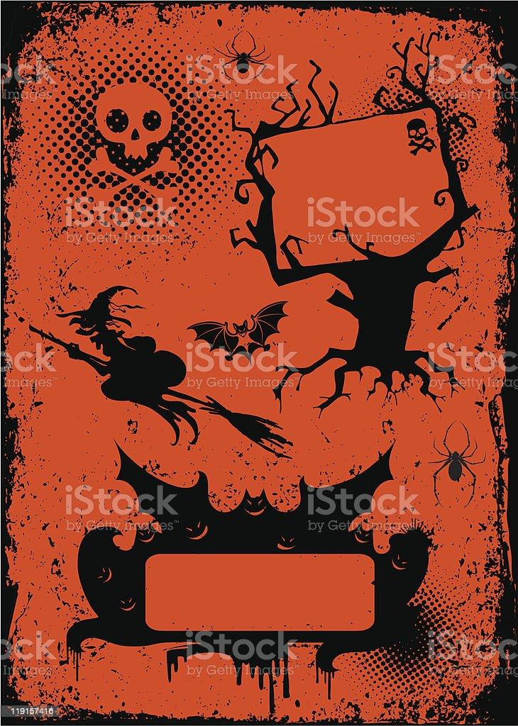 Set of graphic  elements for halloween vector art illustration