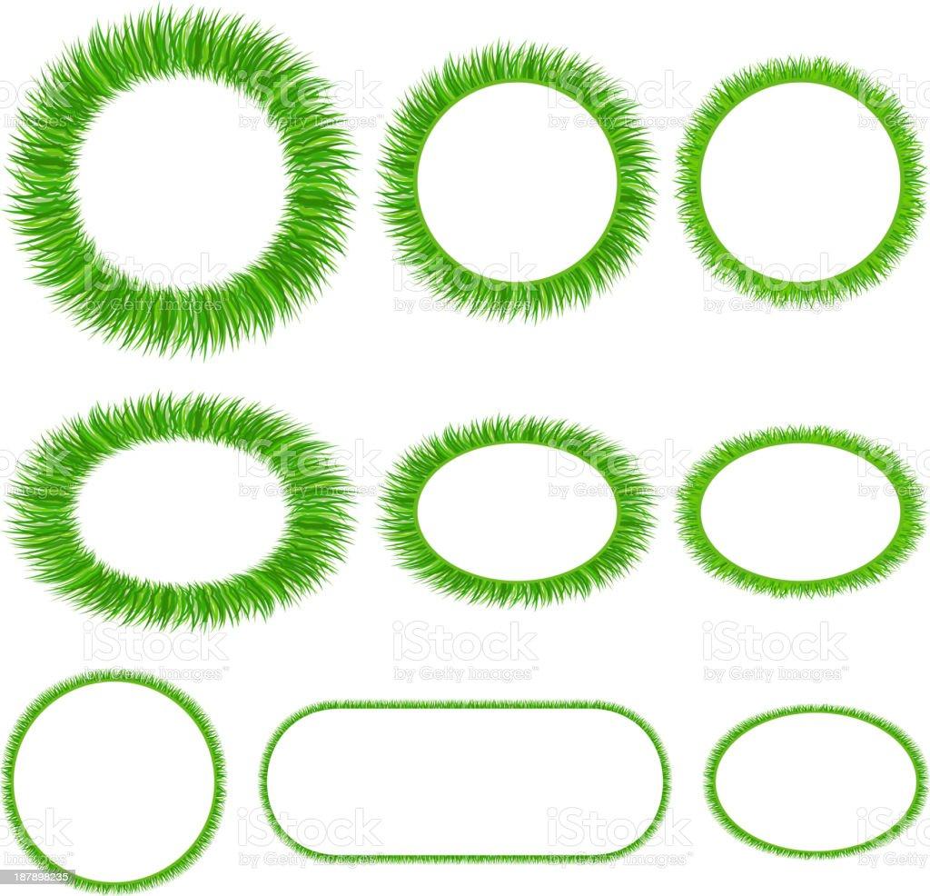 Set of grass frameworks royalty-free stock vector art