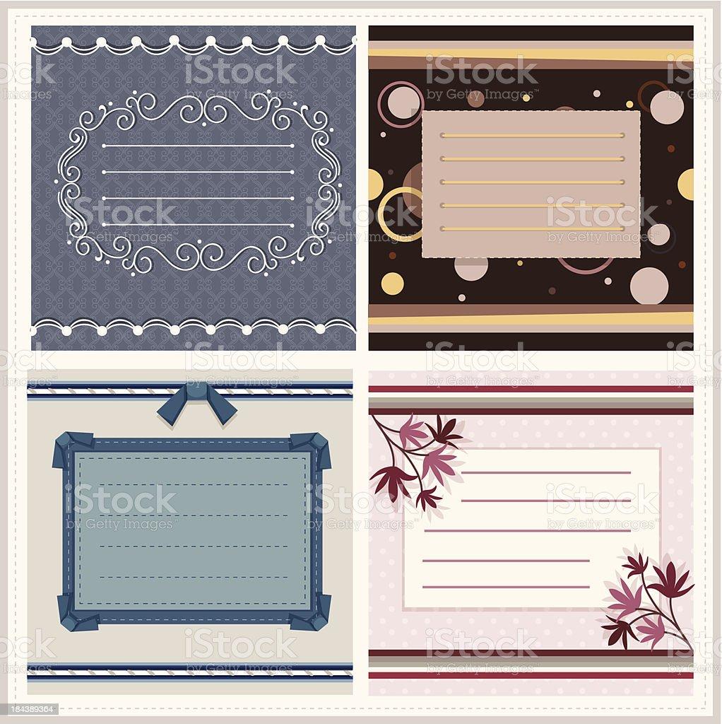 set of greeting card royalty-free stock vector art