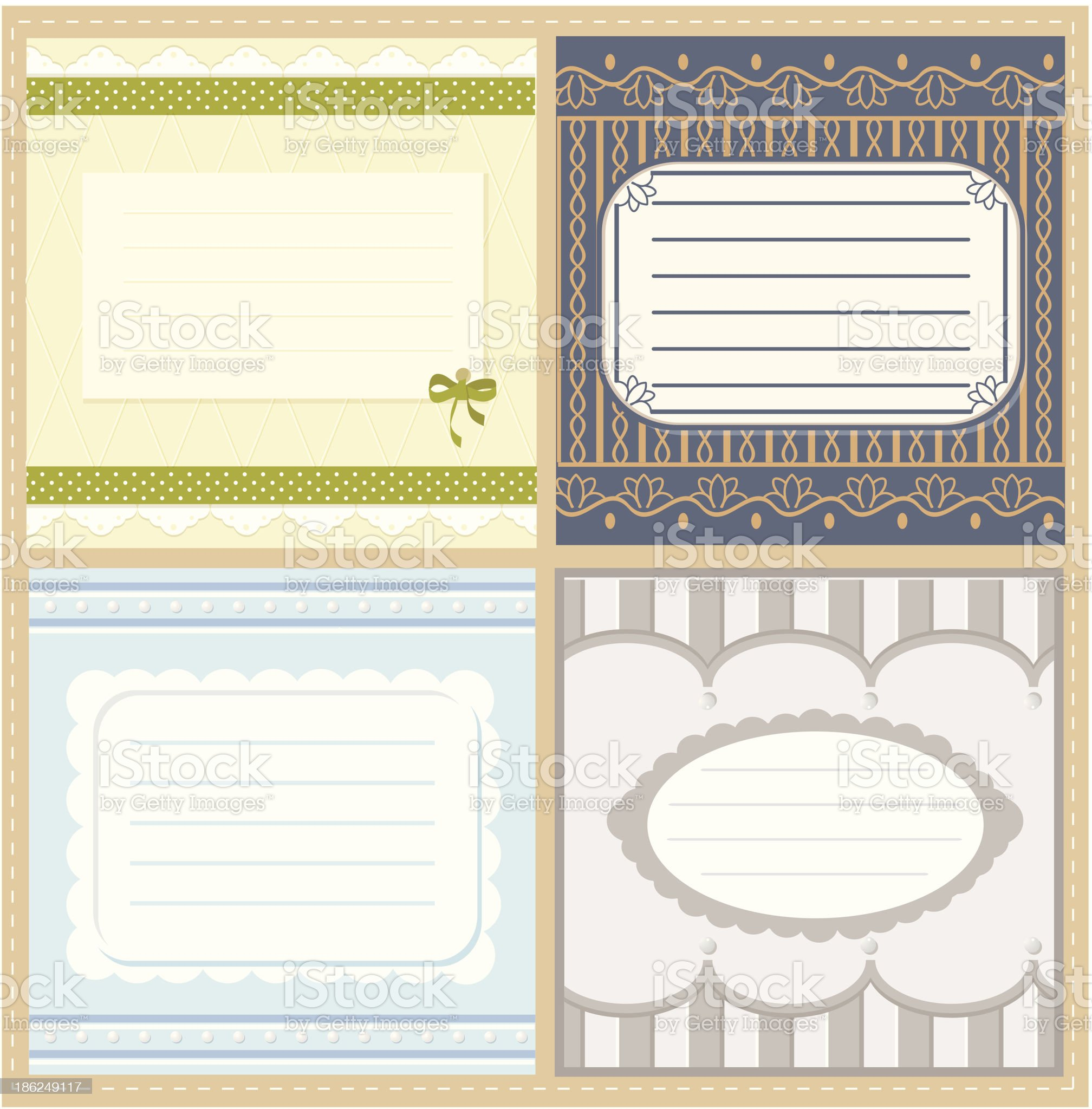 set of greeting cards royalty-free stock vector art