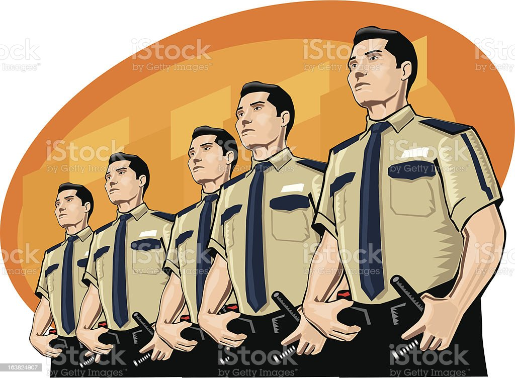 Set of guards royalty-free stock vector art