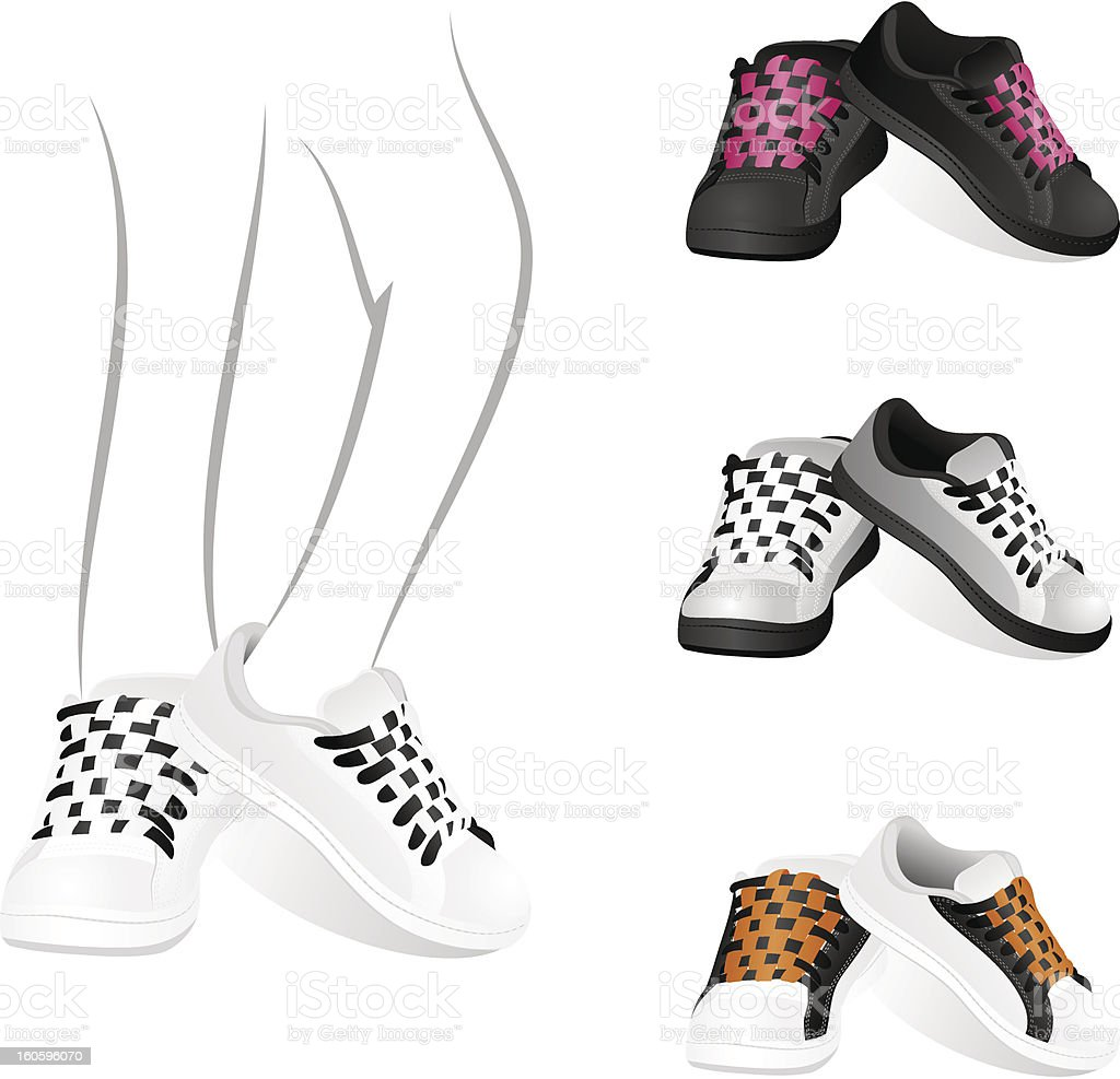 Set of gym shoes royalty-free stock vector art