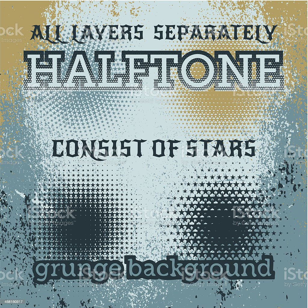 set of halftone on the grunge vector background royalty-free stock vector art