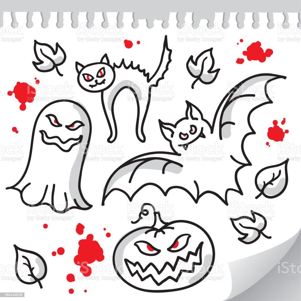 set of halloween elements royalty-free stock vector art