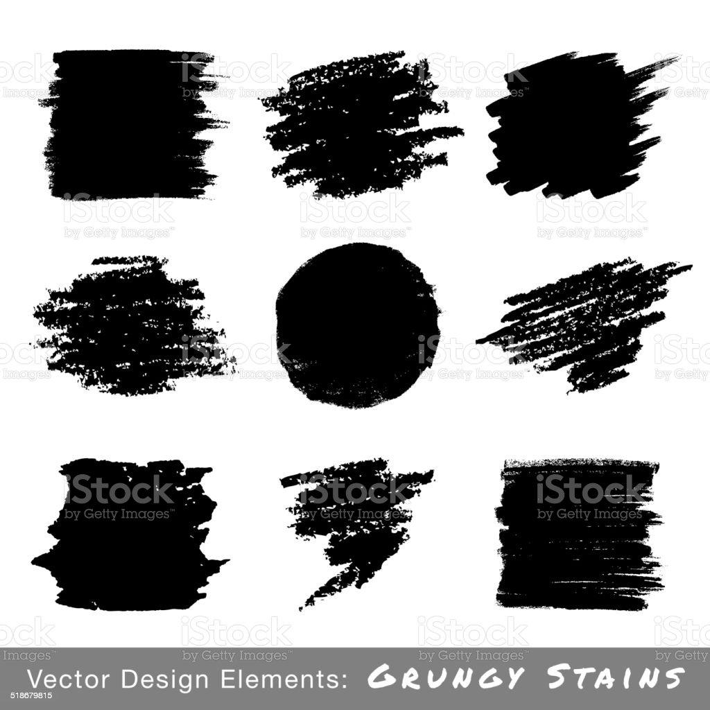 Set of Hand Drawn Grunge backgrounds. vector art illustration