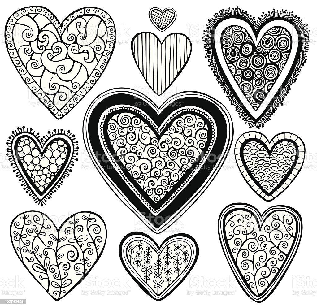 Set of hearts royalty-free stock vector art
