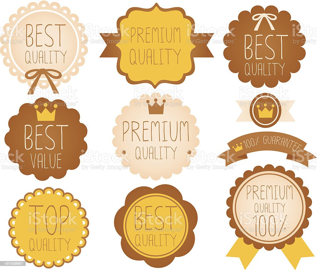 Set of high quality badge royalty-free stock vector art