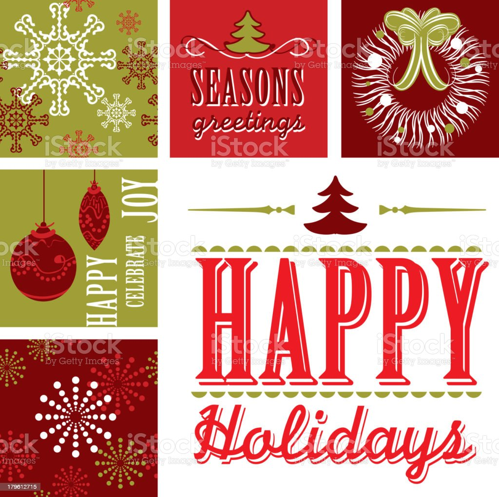 Set of Holiday elements royalty-free stock vector art