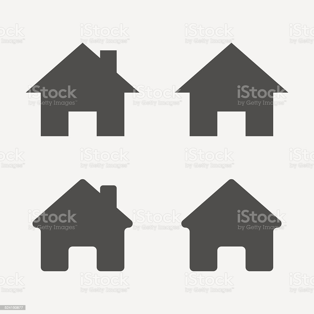 Set of home icons. Home sign, symbol. vector art illustration
