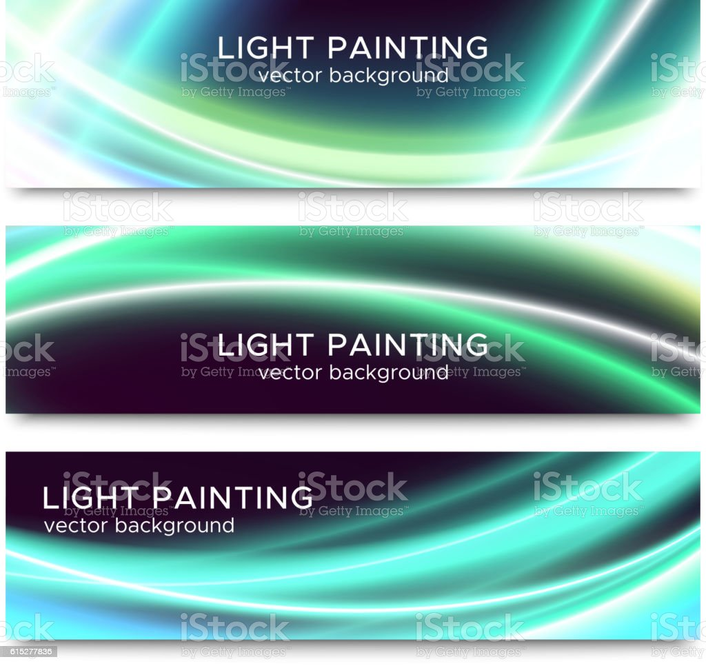 Set of horizontal banners for website or flyer vector art illustration