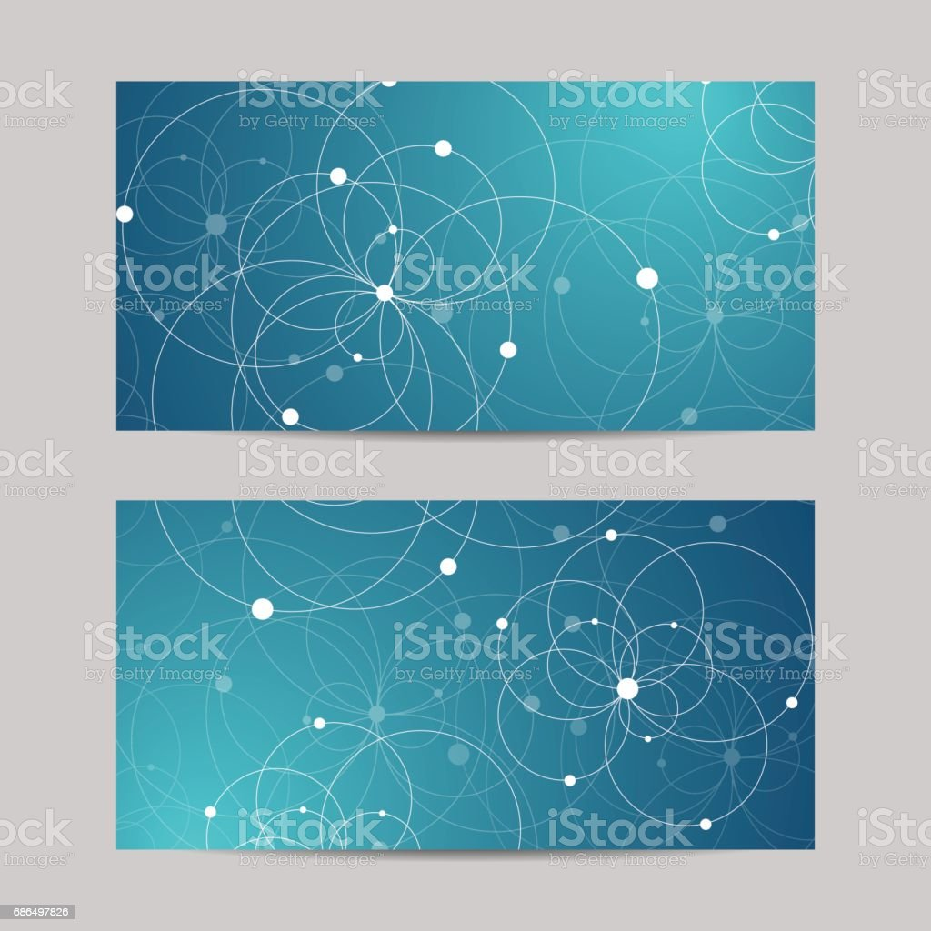 Set of horizontal banners vector art illustration