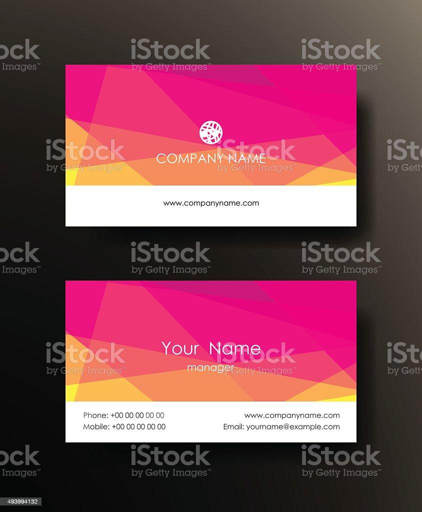 Set of horizontal elegant abstract mosaic business cards. vector art illustration