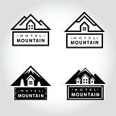Set of Hotel Mountain badge