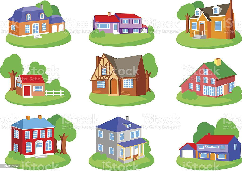 Set of houses. royalty-free stock vector art