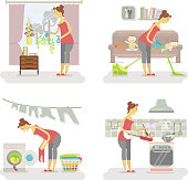 Set of housewifes
