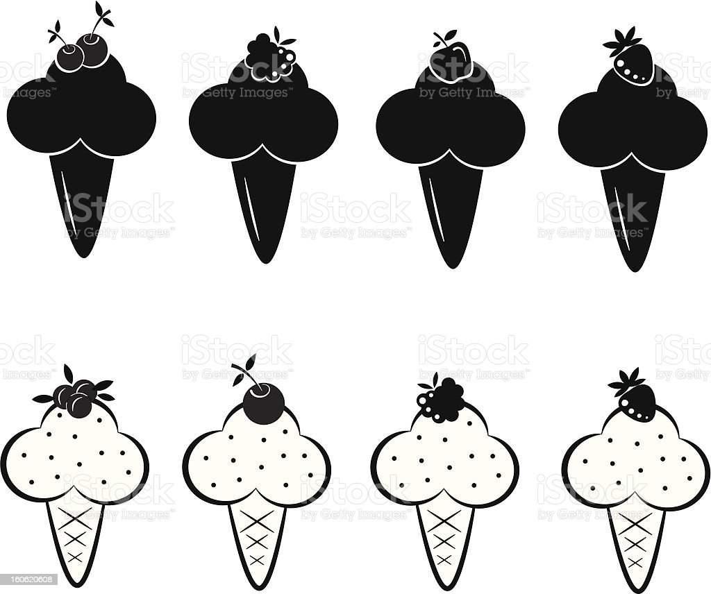 Set of ice cream icons royalty-free stock vector art