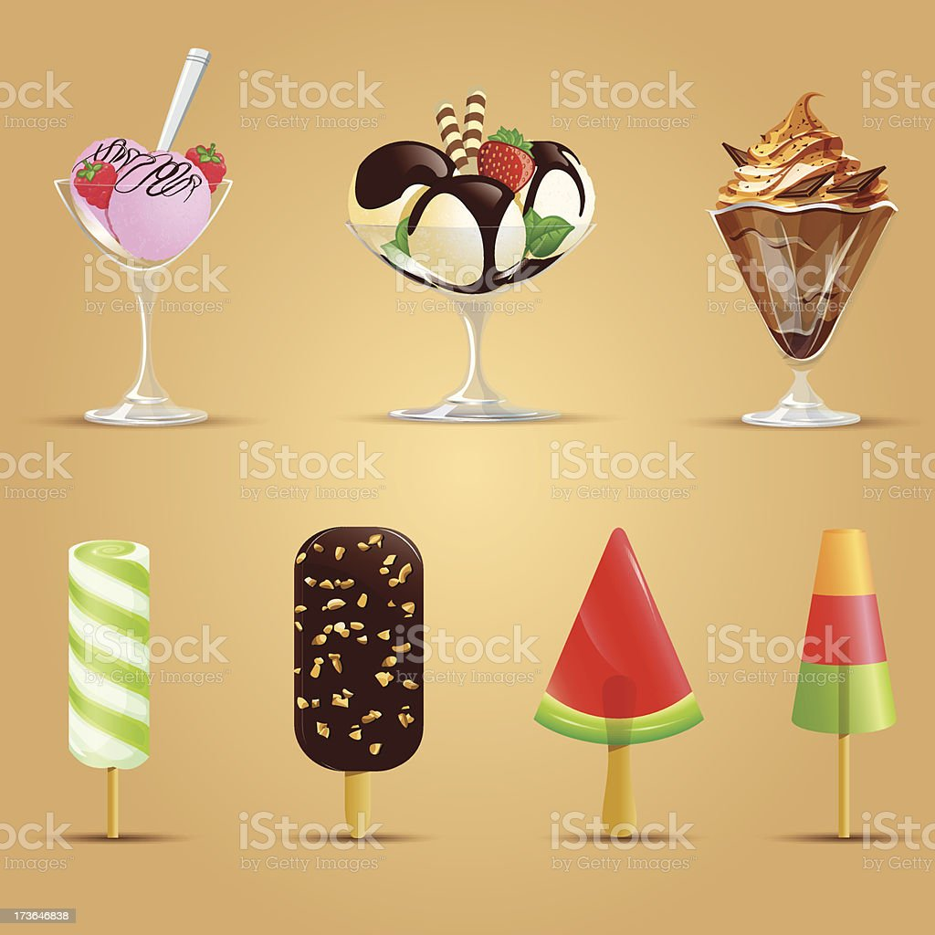 Set of ice cream. vector art illustration
