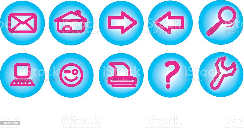 Set of icons computer internet royalty-free stock vector art