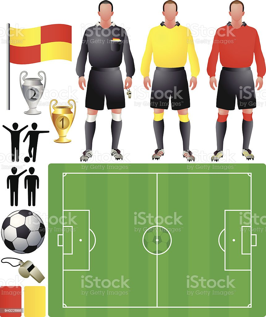 set of icons for European football royalty-free stock vector art