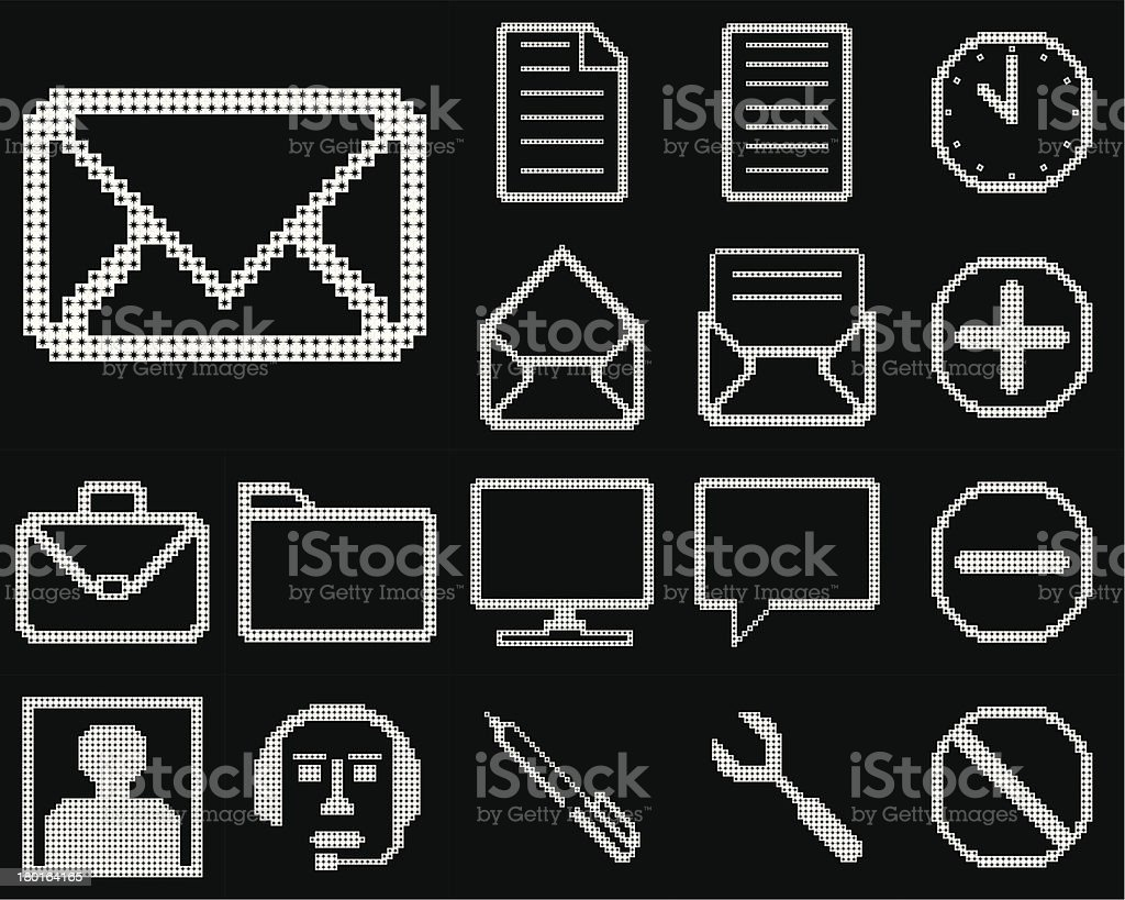 Set of icons for web design. royalty-free stock vector art