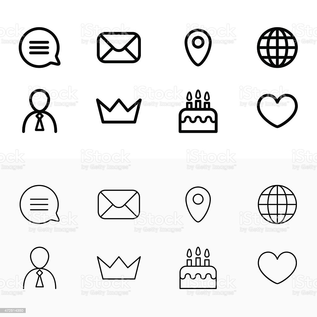 Set of icons relating to phones vector art illustration